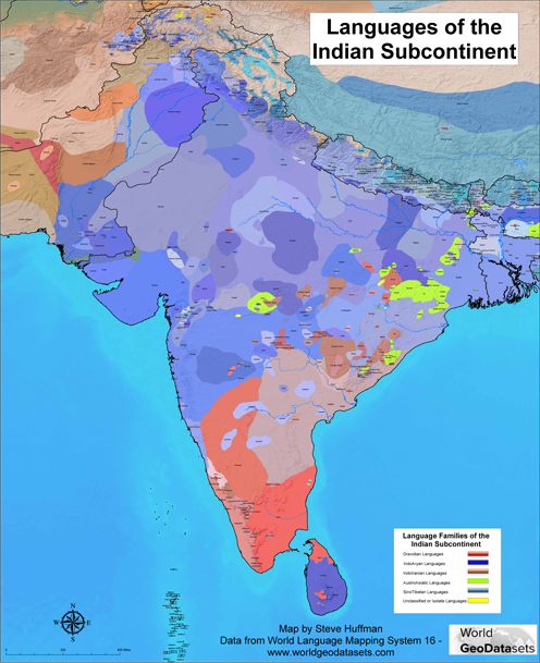 The Languages of the Indian subcontinent
